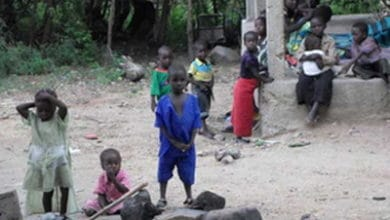 Dzieci uchodźców z Kamerunu