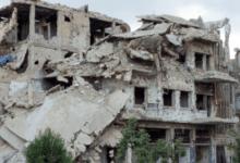 Gruzy zniszczonych domów w Aleppo