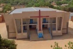 Odbudowany kościół w Niamey