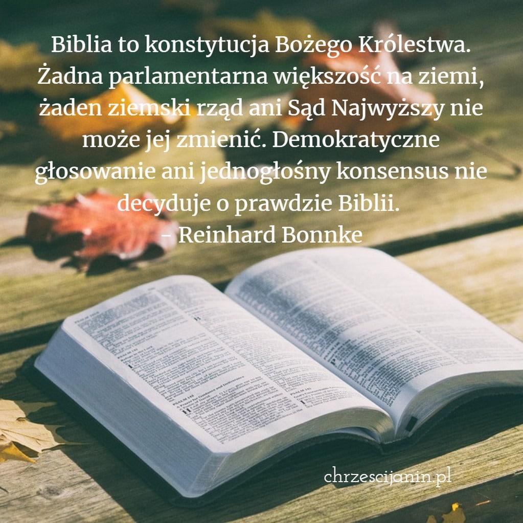Biblia to konstytucja Bożego Królestwa