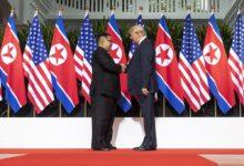 Kim Jong Un i Donald Trump na spotkaniu w Singapurze