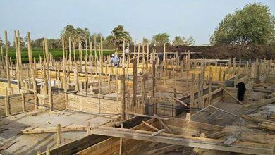 Budowa kościoła koptyjskiego w Kom El-Loufy