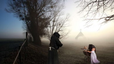 dziecko i mnich